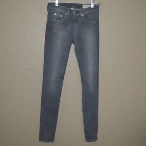 Sz 25 Rag & Bone Gray Buxton Super Skinny Jeans
